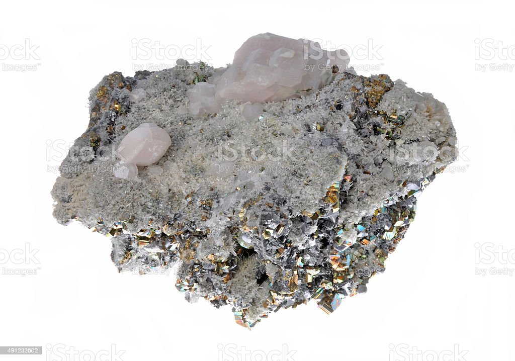 Beautiful cluster of pyrite stock photo