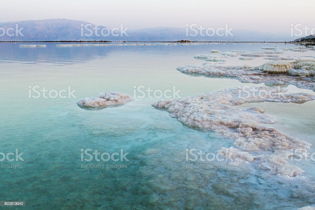 Beautiful coast of the Dead Sea . stock photo