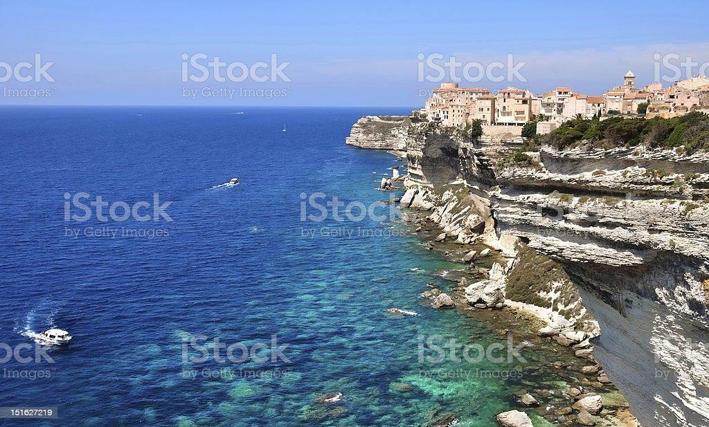 A beautiful coast of the Mediterranean sea stock photo