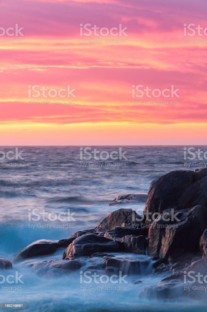 Beautiful coastal sunset royalty-free stock photo