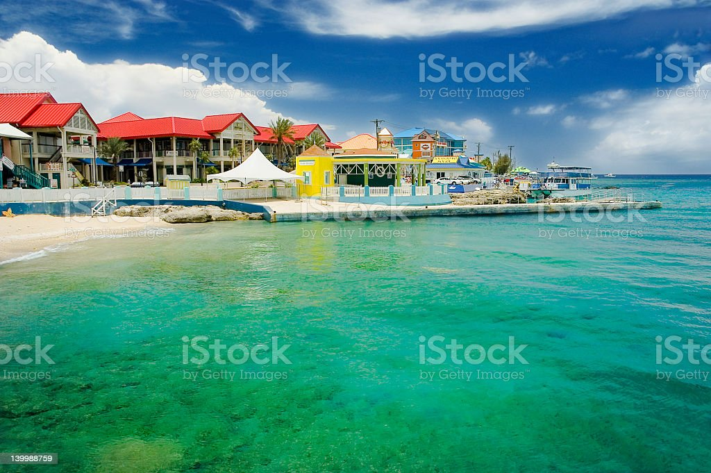 Beautiful coastal view of Georgetown on a clear day stock photo