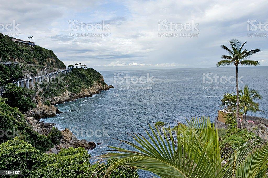 Beautiful coastline in Acapulco stock photo