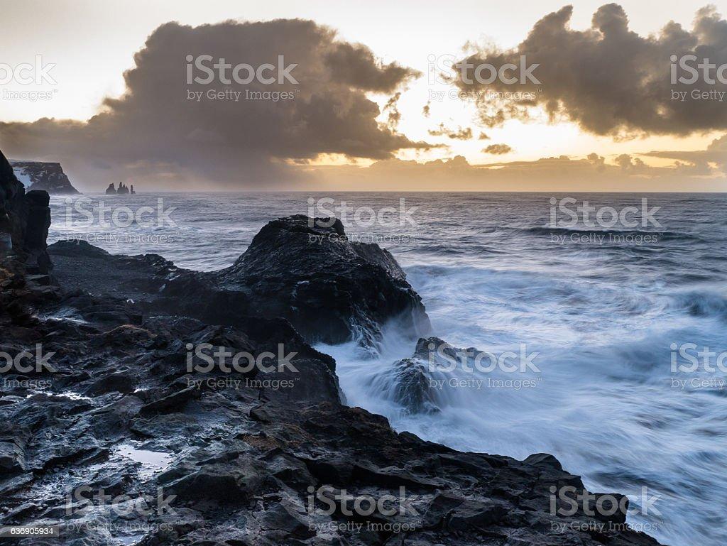 Beautiful Coastline in Vik - Iceland stock photo