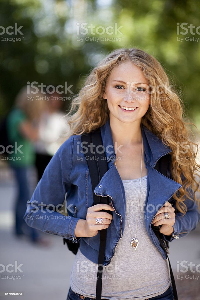 Beautiful College Student royalty-free stock photo