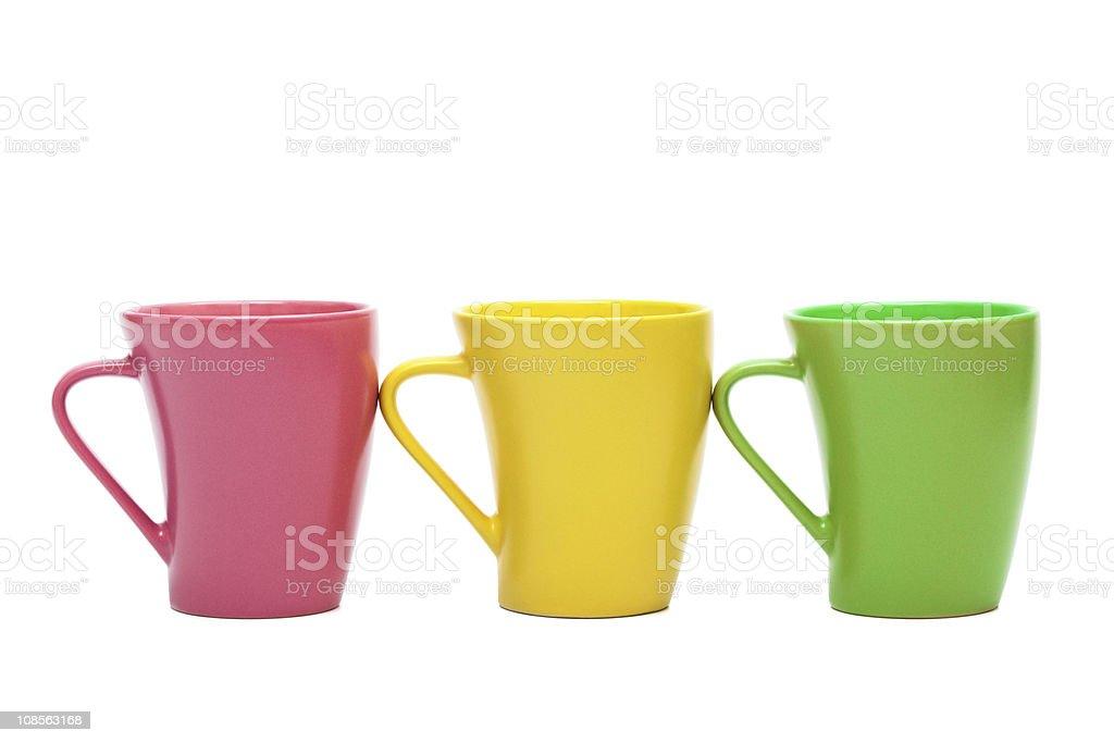 Beautiful color mugs royalty-free stock photo
