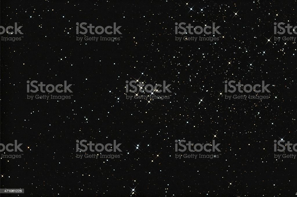 Beautiful colored Stars, Custer M29 (less spikes) stock photo