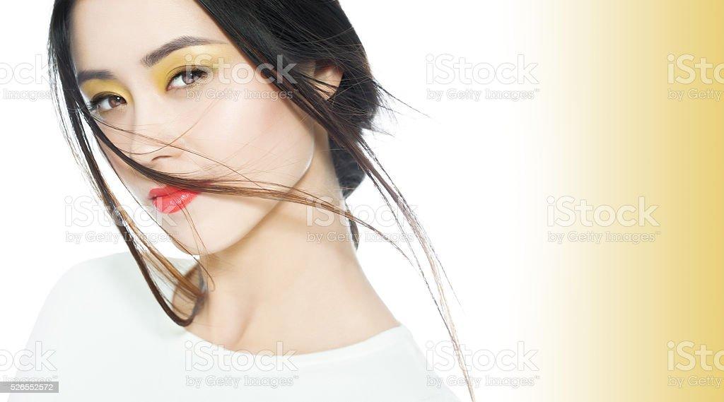 Beautiful Colorful Asian Makeup stock photo