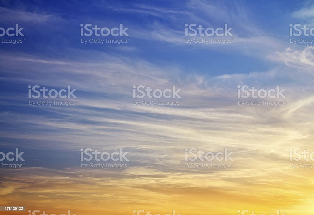 Beautiful colorful sky. royalty-free stock photo