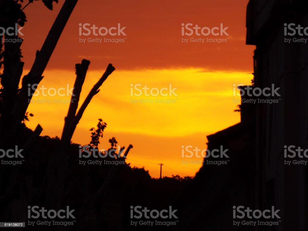 De magnifiques couleurs du coucher du soleil photo libre de droits