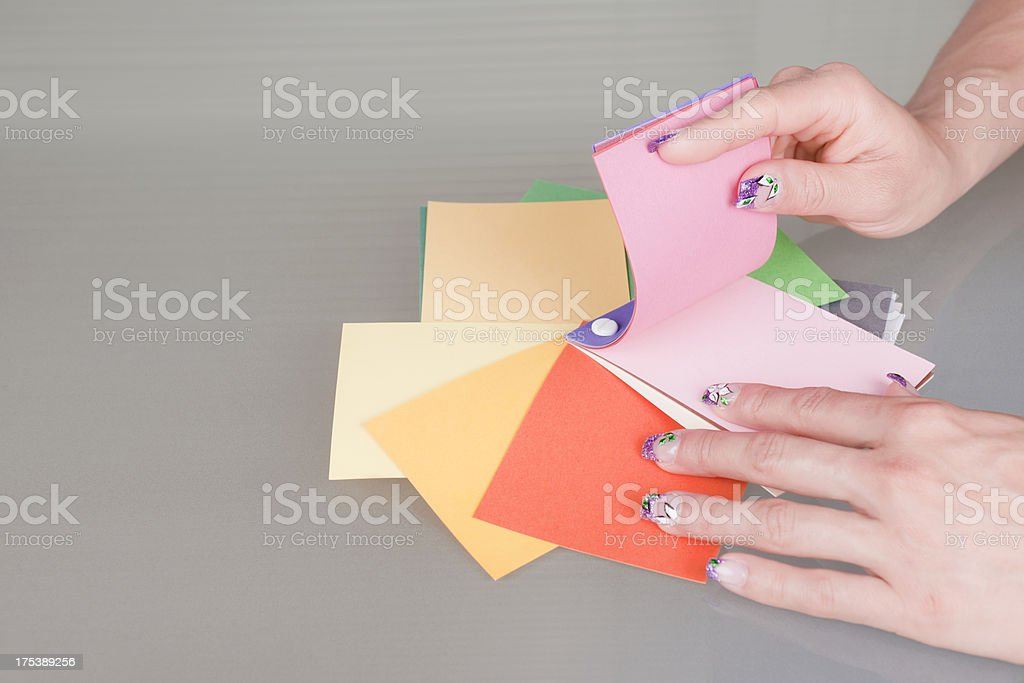 Beautiful Colours to Choose royalty-free stock photo
