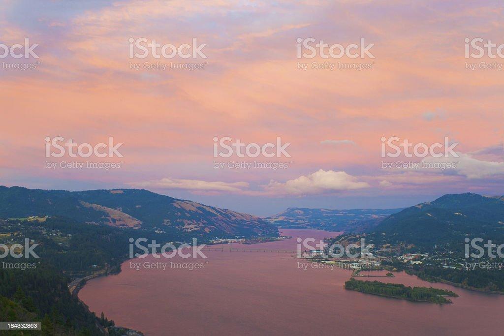 Beautiful Columbia Gorge stock photo