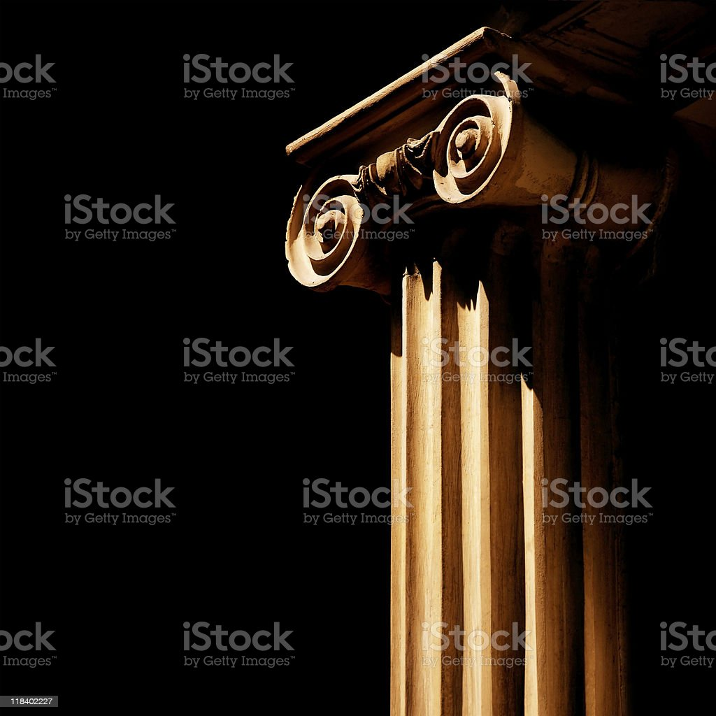 beautiful column detail stock photo