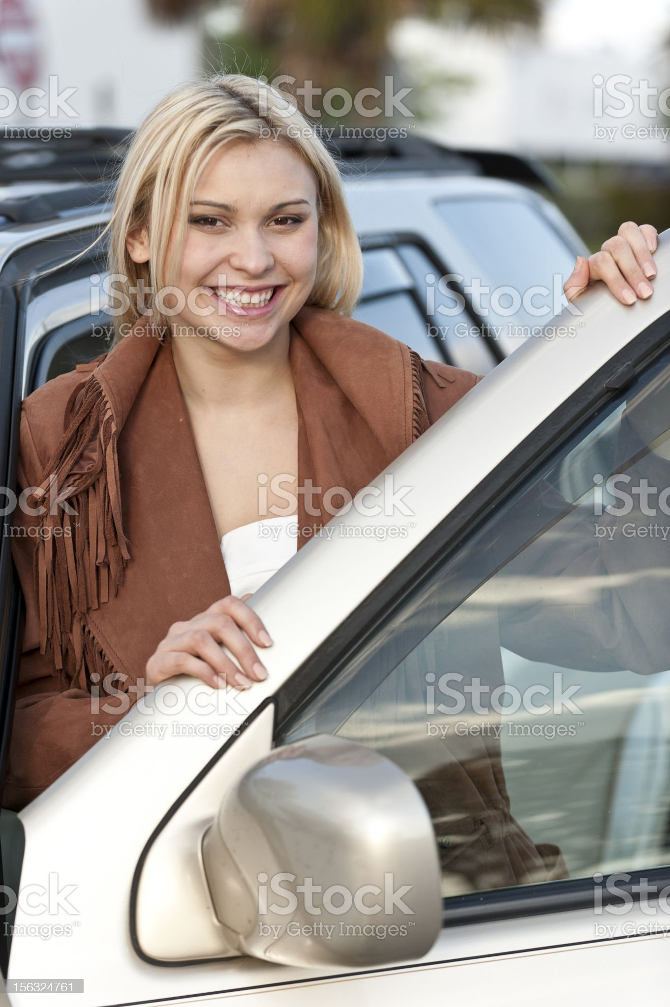 Beautiful commuter royalty-free stock photo