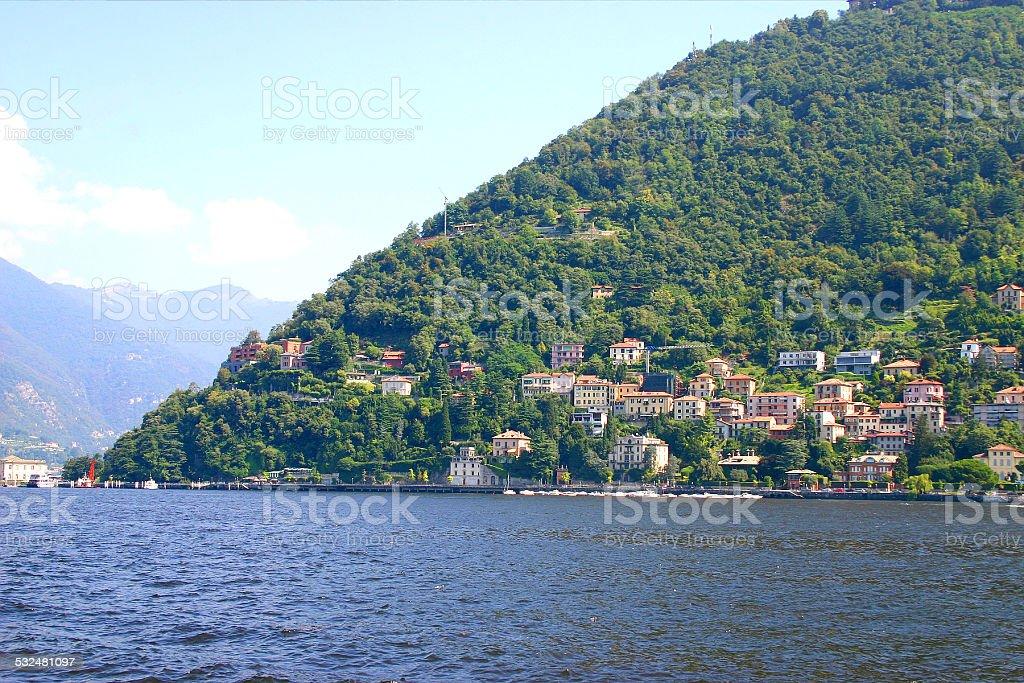Beautiful Como lake, north of Italy stock photo