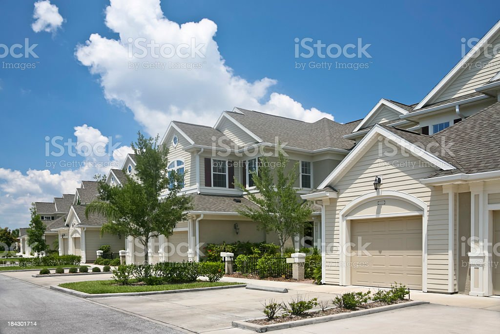Beautiful condominium community stock photo