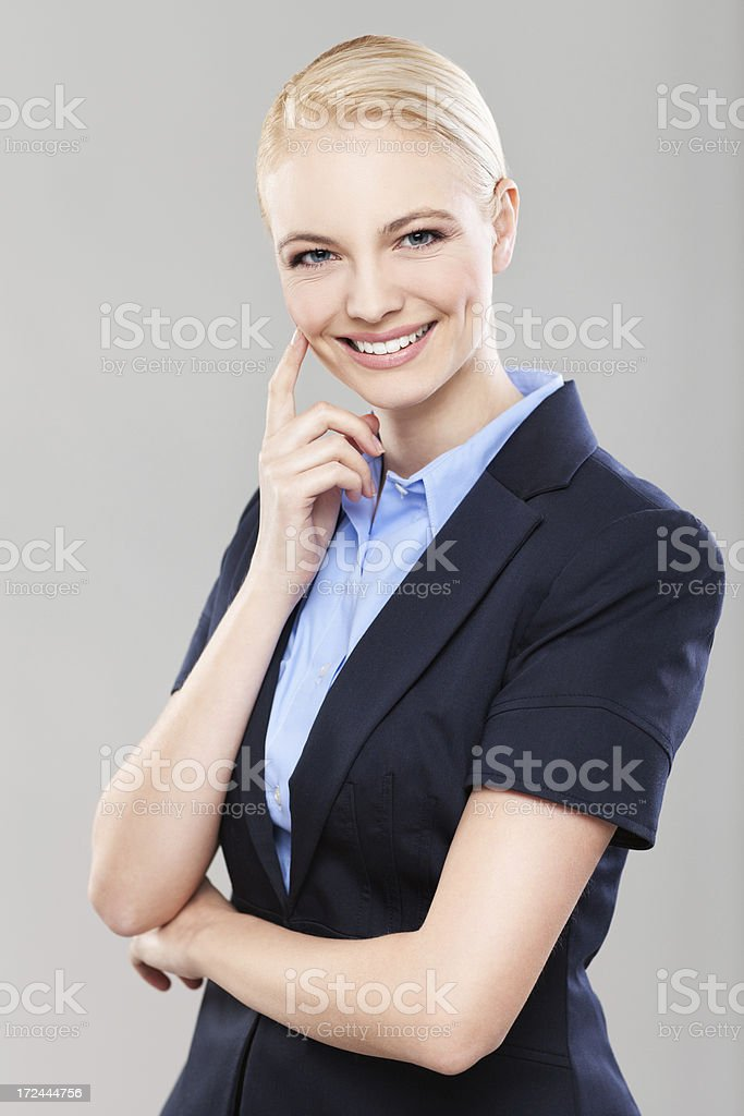 Beautiful confident businesswoman royalty-free stock photo