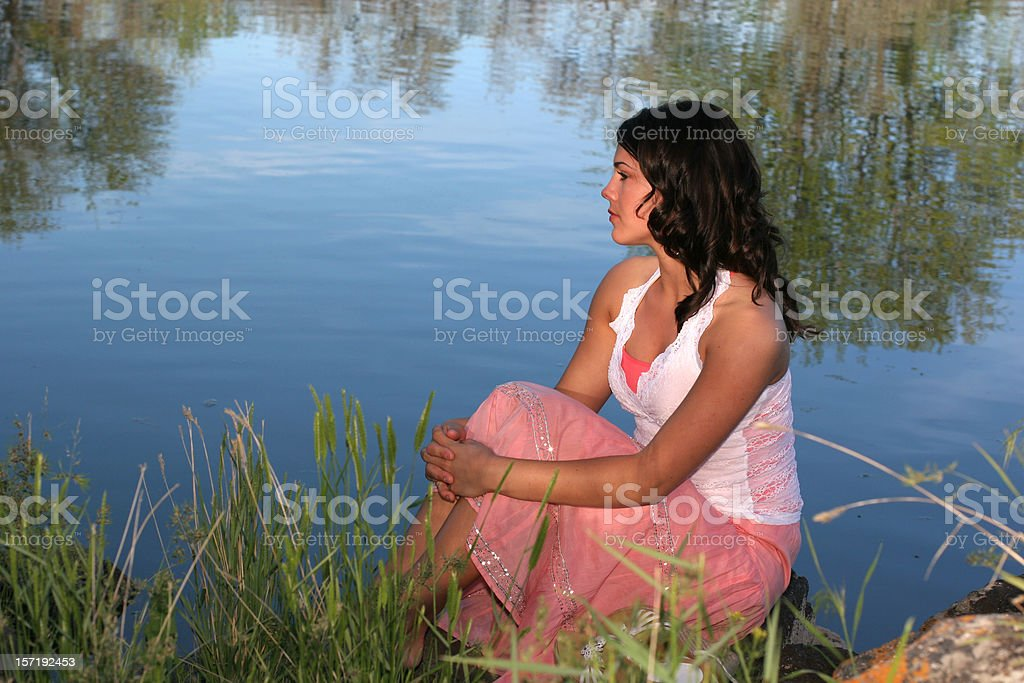 Beautiful Contemplation royalty-free stock photo