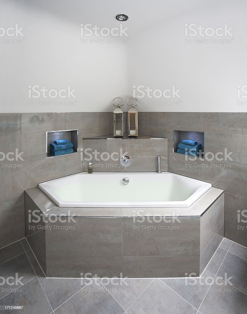 beautiful corner bath royalty-free stock photo