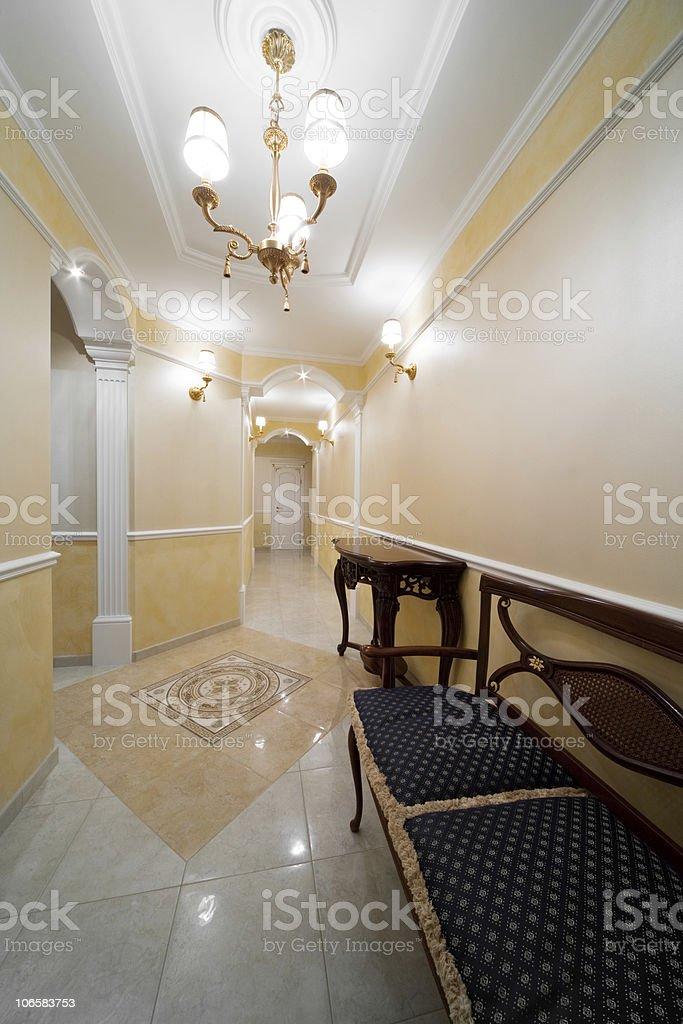 Beautiful corridor royalty-free stock photo