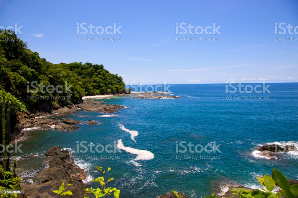 Beautiful Costa Rican Coast royalty-free stock photo
