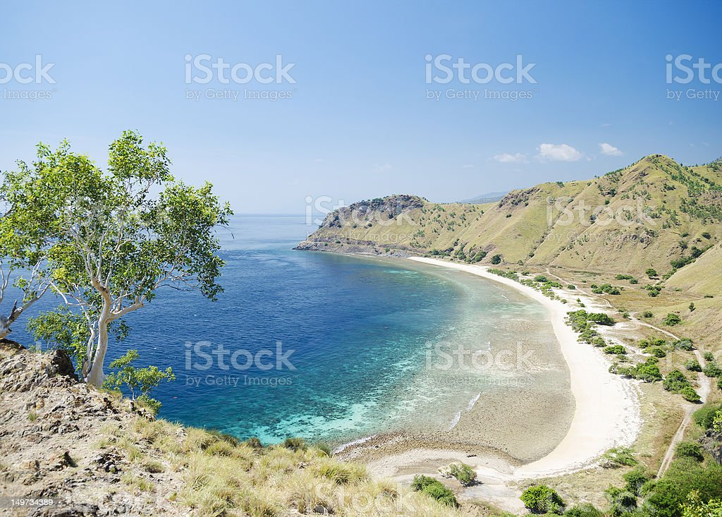 Beautiful costal beach near Dili in East Timor stock photo