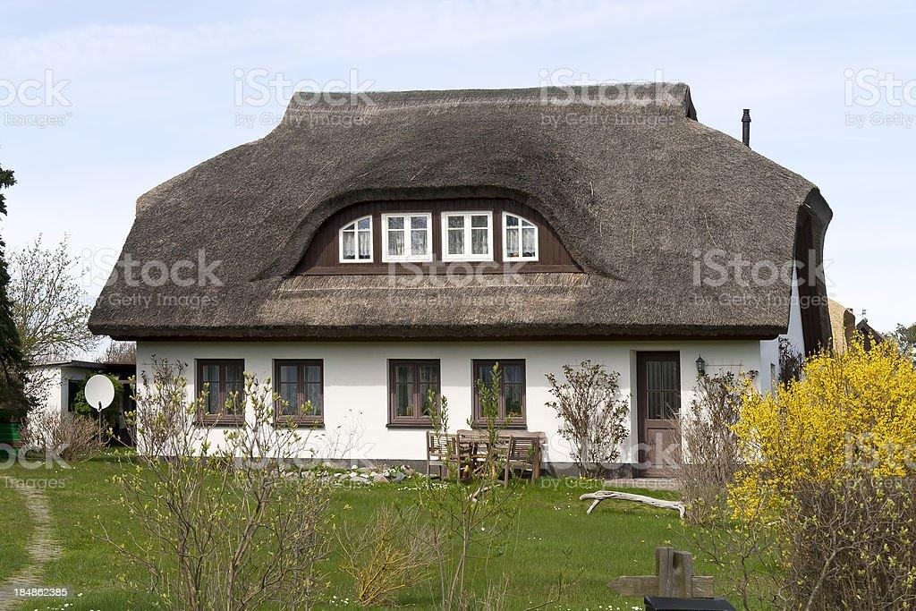 Beautiful cottage, Baltic Sea, Germany stock photo