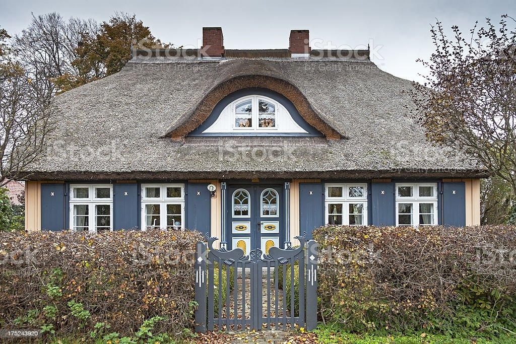 Beautiful cottage house, Born, Germany royalty-free stock photo