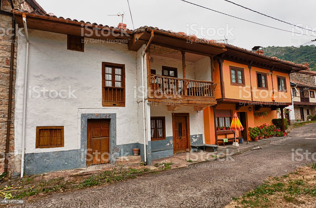 Beautiful cottages in Northern Spain royalty-free stock photo