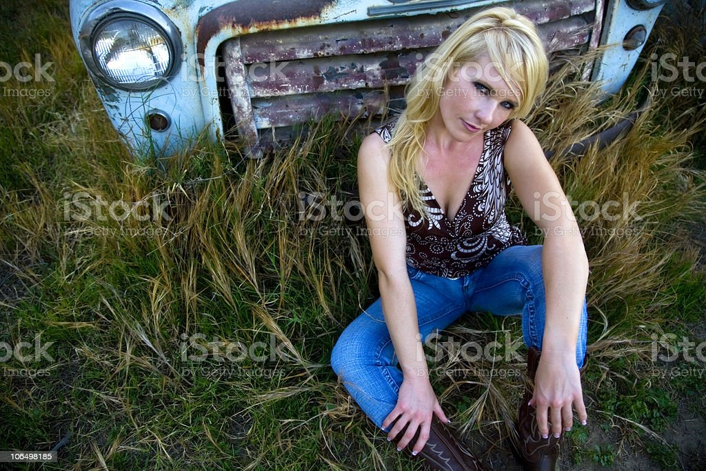 Beautiful Country Girl royalty-free stock photo