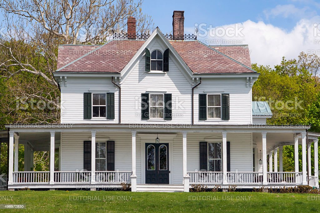 Beautiful Country Home stock photo