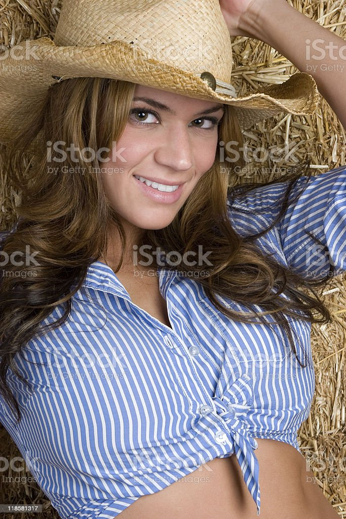 Beautiful Country Woman royalty-free stock photo