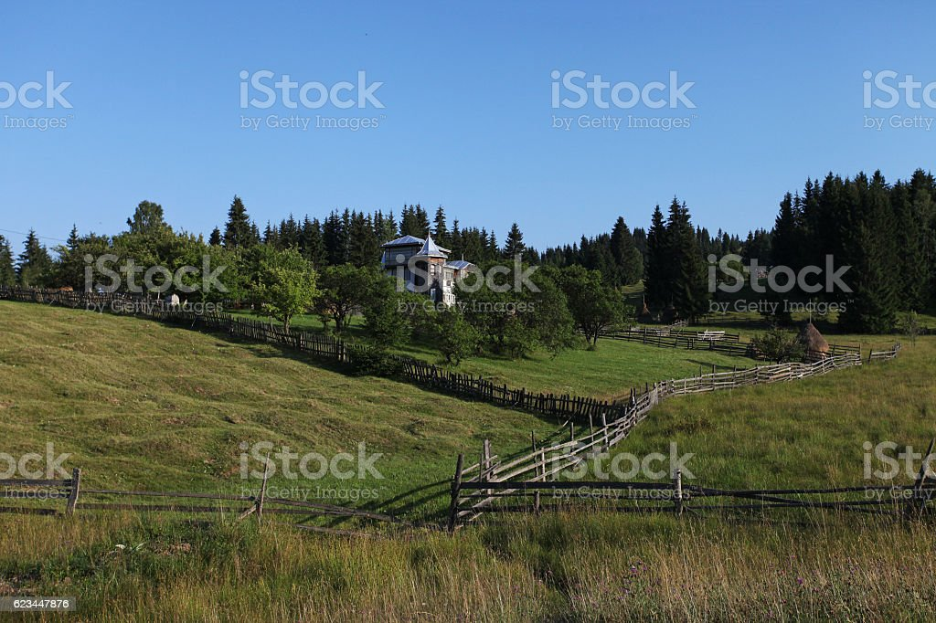 Beautiful countryside lifestyle in Bucovina stock photo