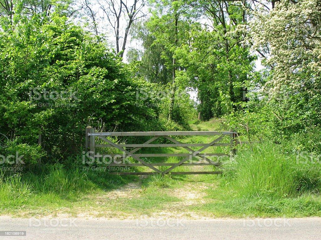 Beautiful countryside scene royalty-free stock photo