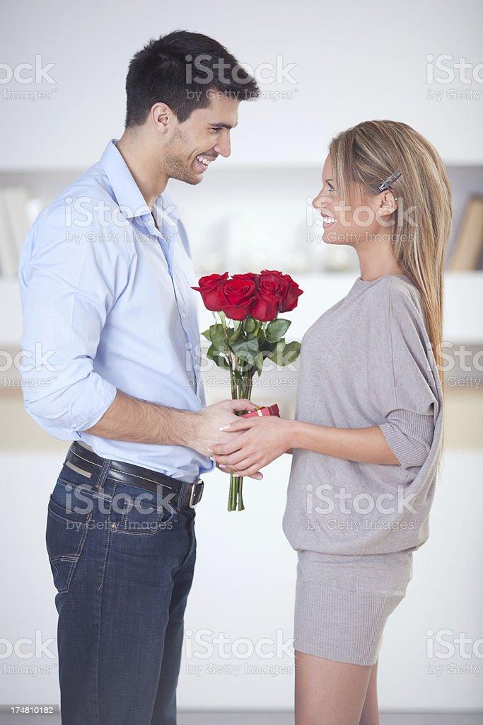 Beautiful couple date. royalty-free stock photo