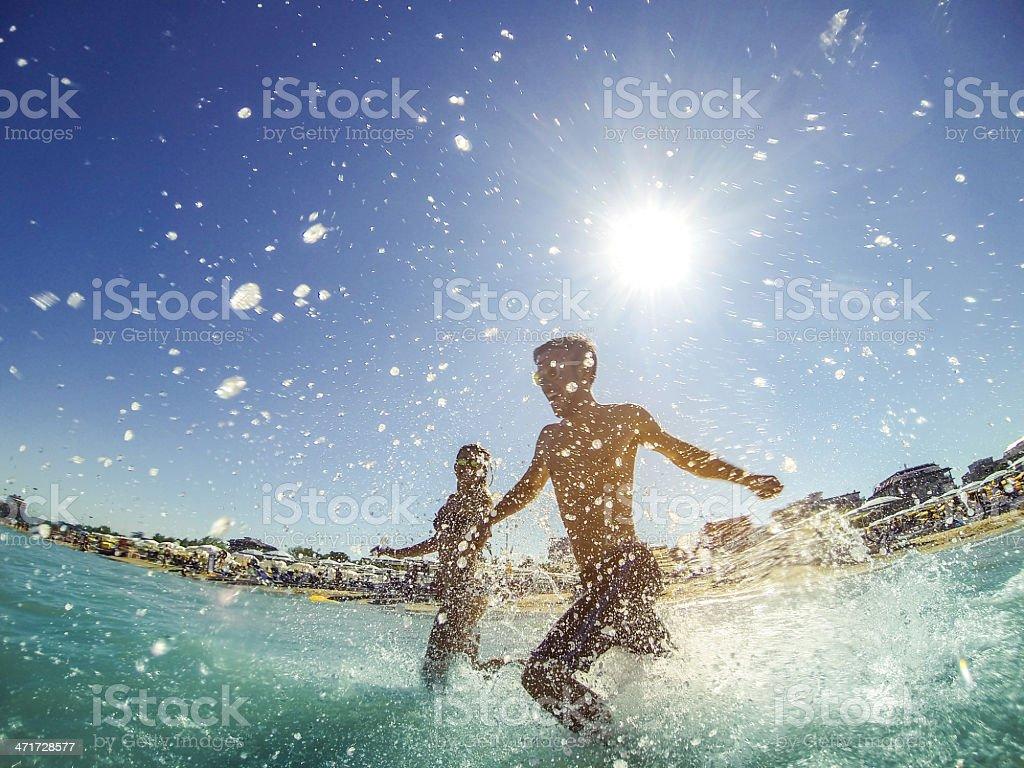 Beautiful couple having fun during summer royalty-free stock photo
