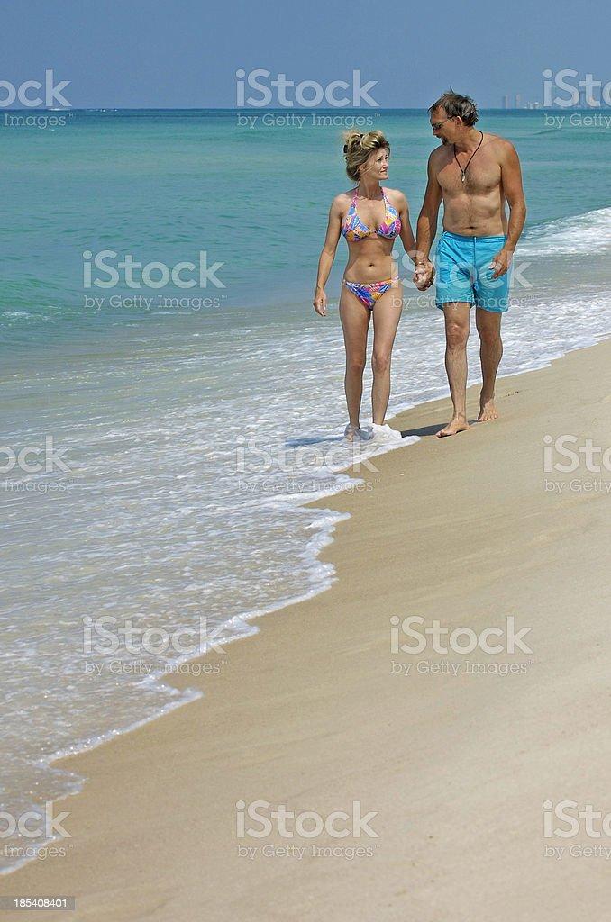 Beautiful Couple on the Beach royalty-free stock photo