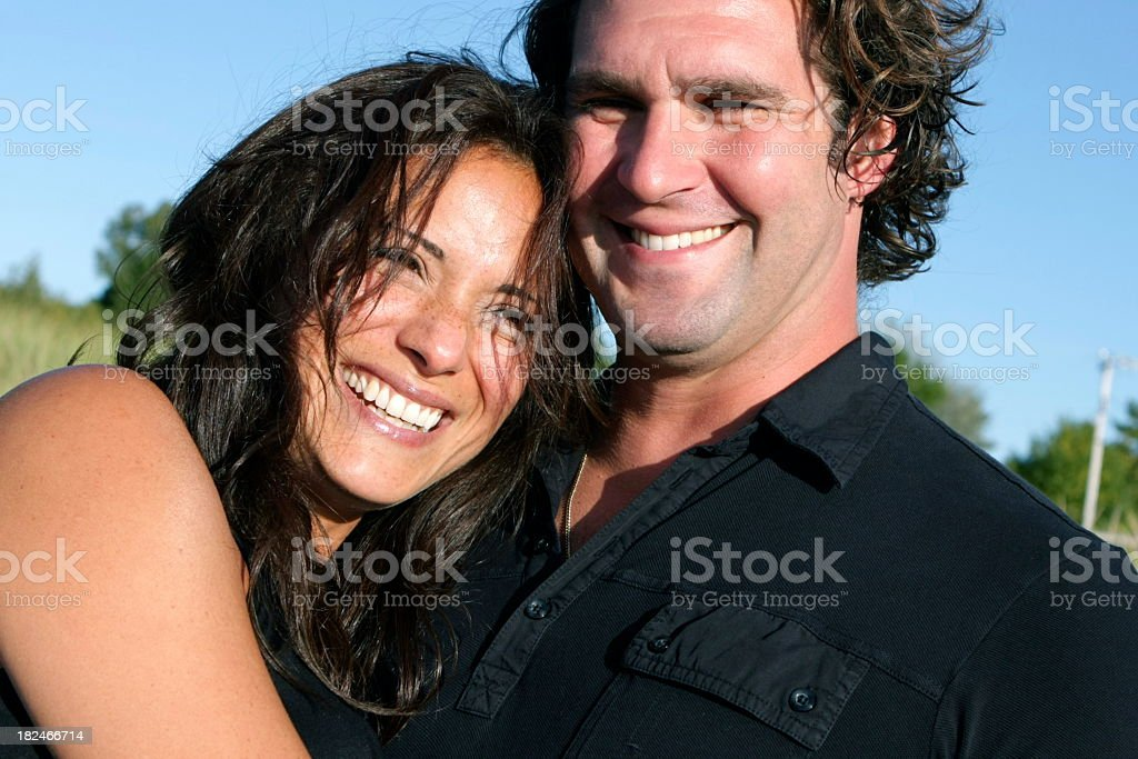 Beautiful Couple Outdoors royalty-free stock photo