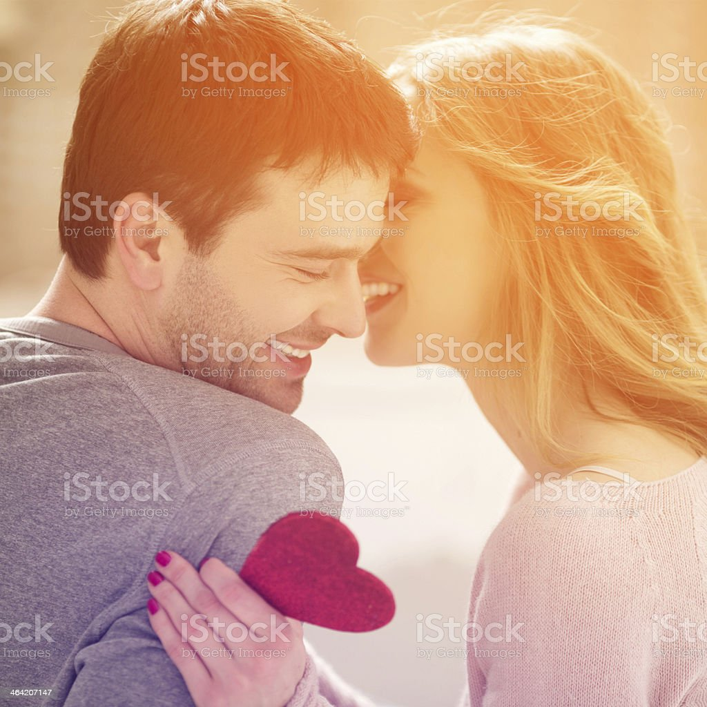 Beautiful couple. stock photo