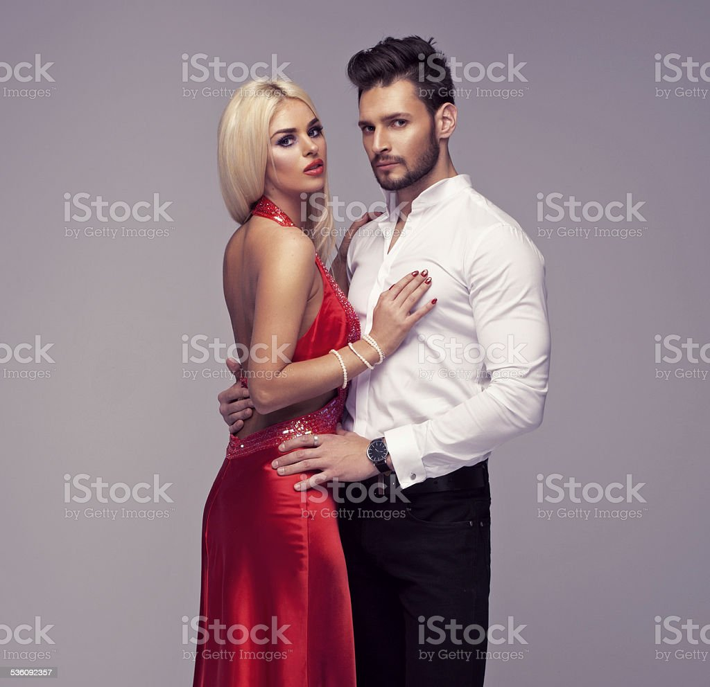 Beautiful couple posing stock photo