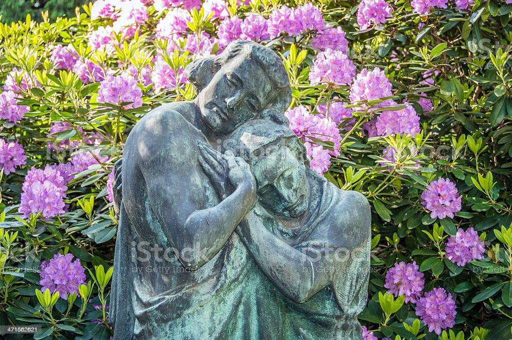Beautiful Couple Sculpture stock photo