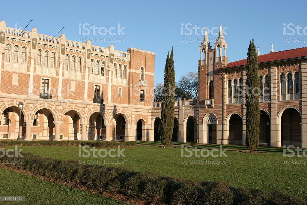 Beautiful courtyard stock photo