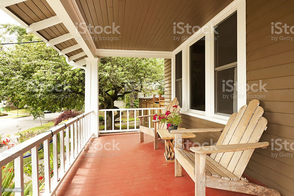 Beautiful Covered Porch stock photo