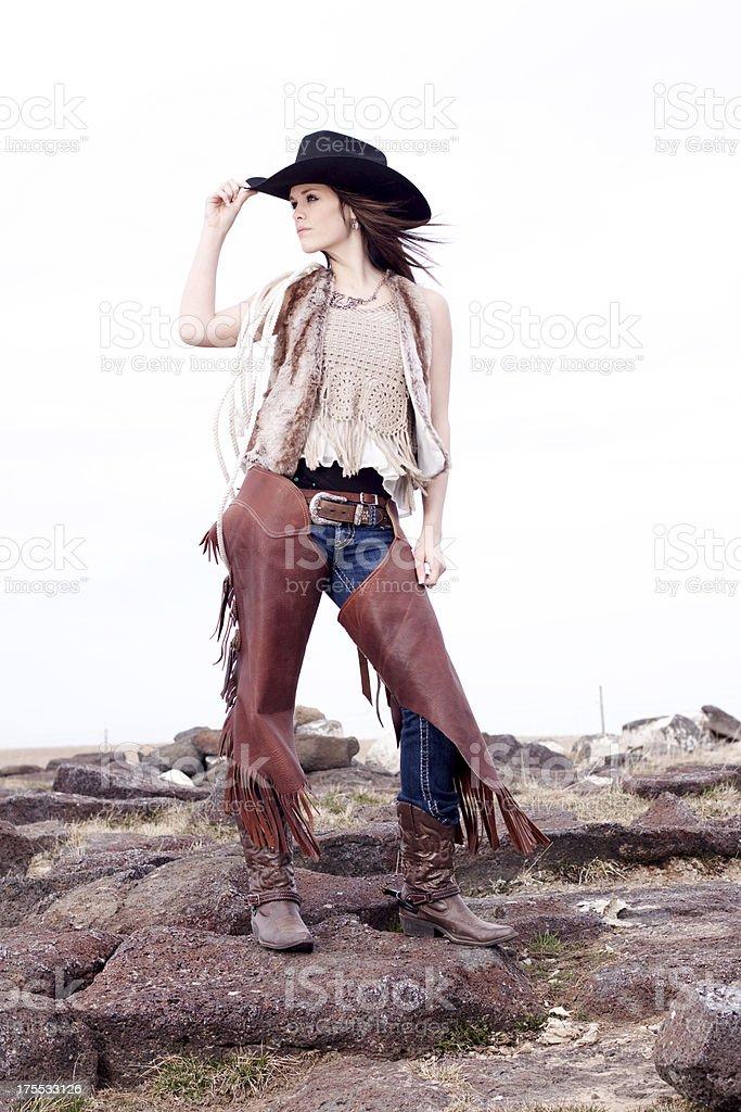 Beautiful Cowgirl royalty-free stock photo