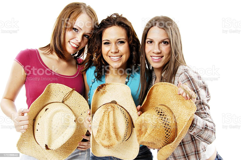 Beautiful Cowgirls royalty-free stock photo