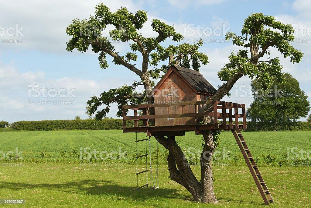 Beautiful creative tree house stock photo
