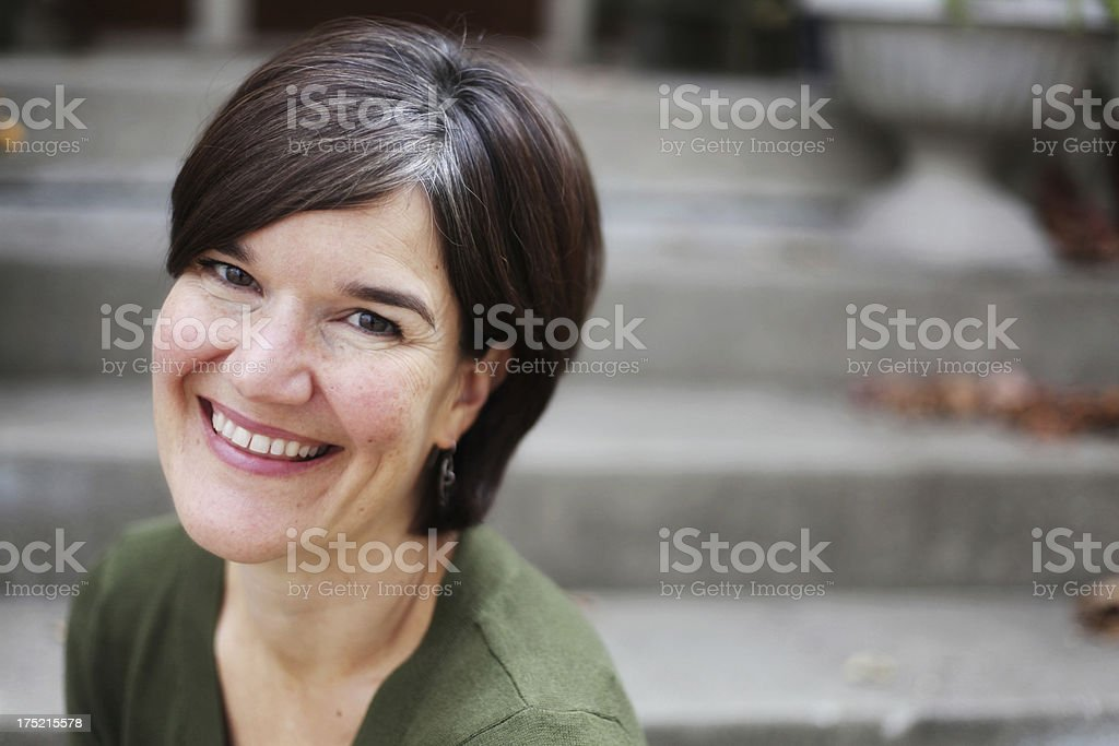 Beautiful Creative Woman in Outdoor Setting royalty-free stock photo