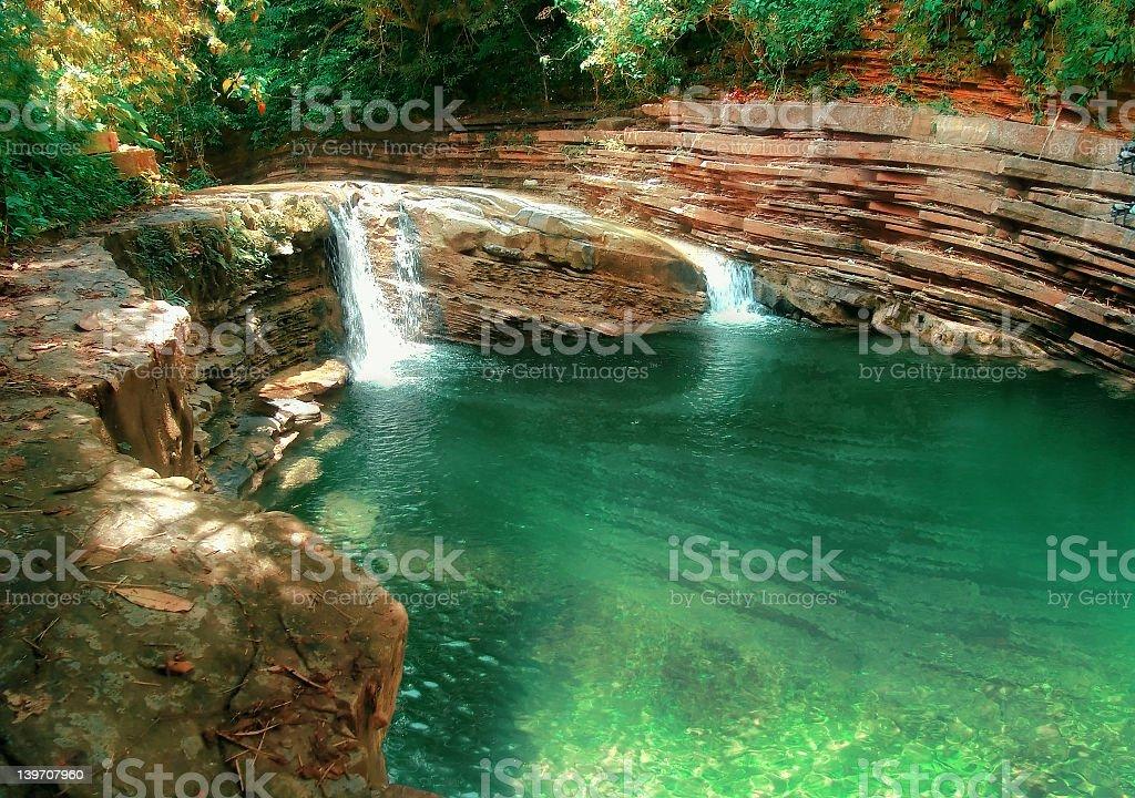 Beautiful creek white crystalline blue water royalty-free stock photo