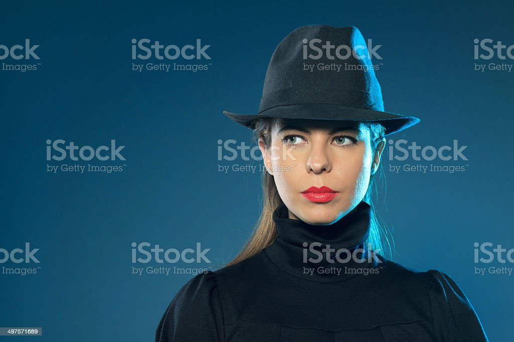 beautiful criminal girl royalty-free stock photo
