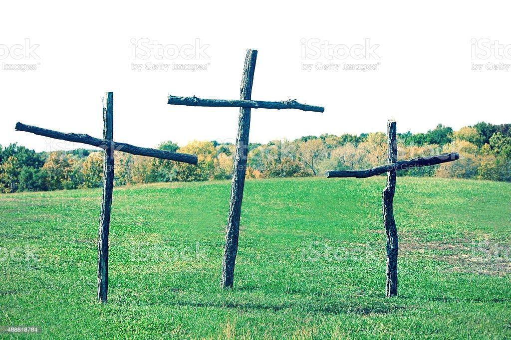 Beautiful Crosses stock photo