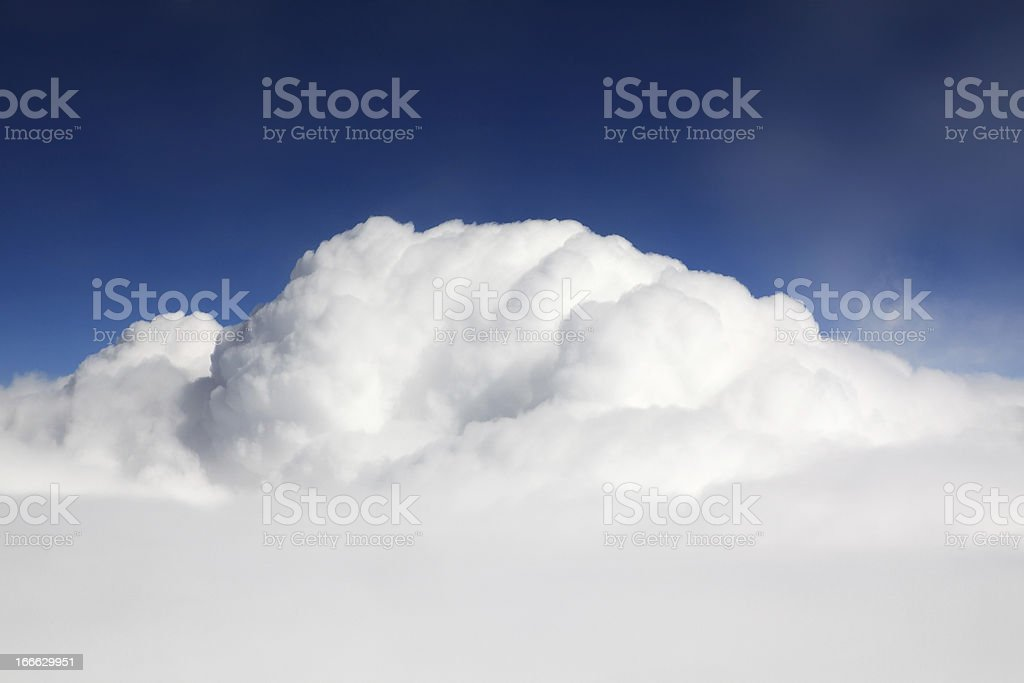 Beautiful cumulus clouds royalty-free stock photo